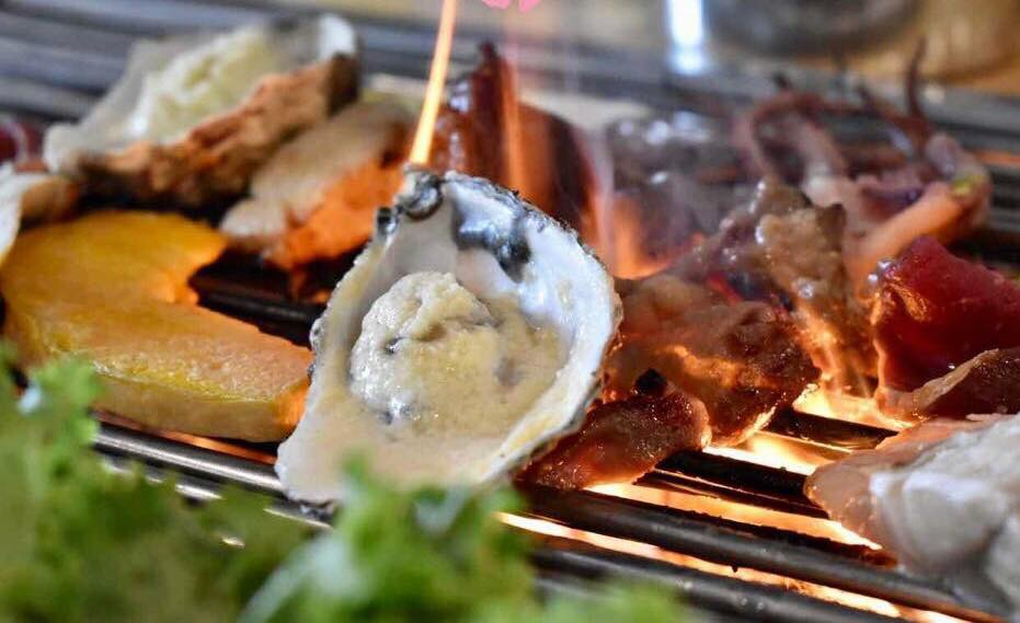 Barbecue Oyster at Medini's Barbecue Restaurant