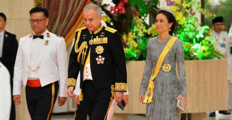 Tuanku Zara Salim and Sultan Nazrin Muizzuddin Shah at the Golden Jubilee