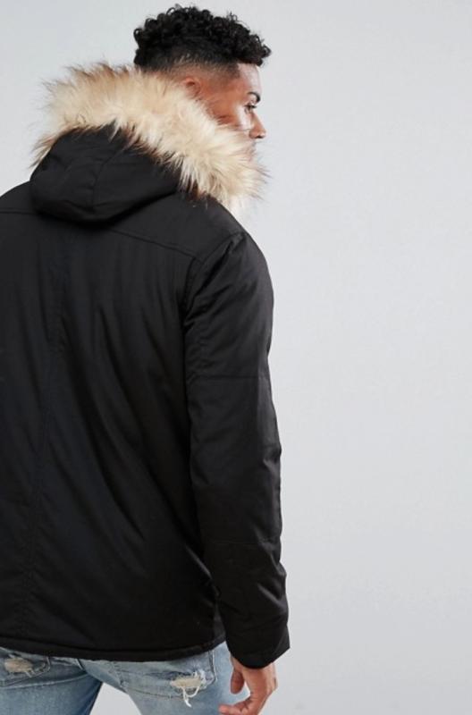 River Island Parka Jacket In Black ASOS