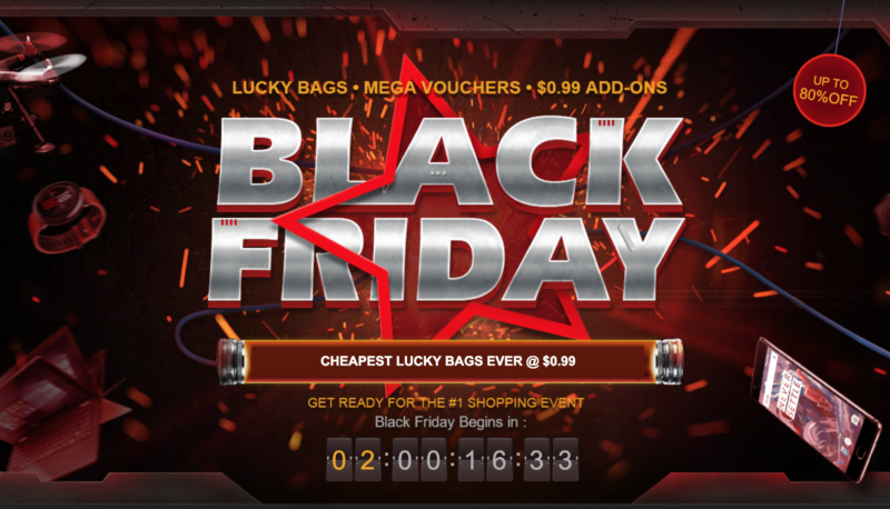 GearBest Black Friday promotional banner