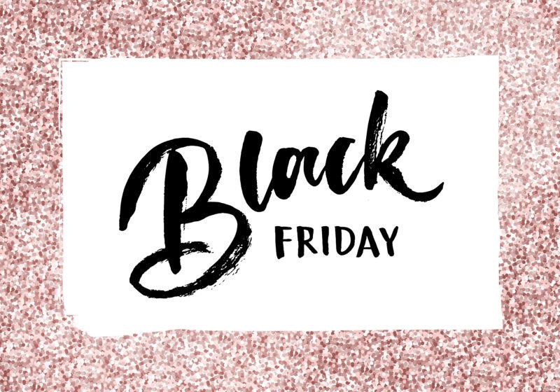 Black Friday Calligraphy Glitter