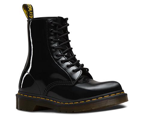 Dr. Martens 1460 Black Patent Lamper Boots