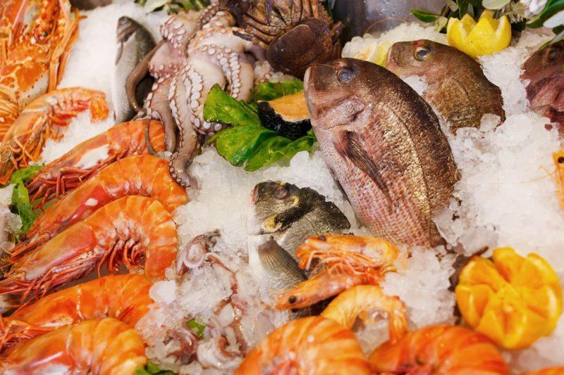 Fresh seafood in pulau ketam