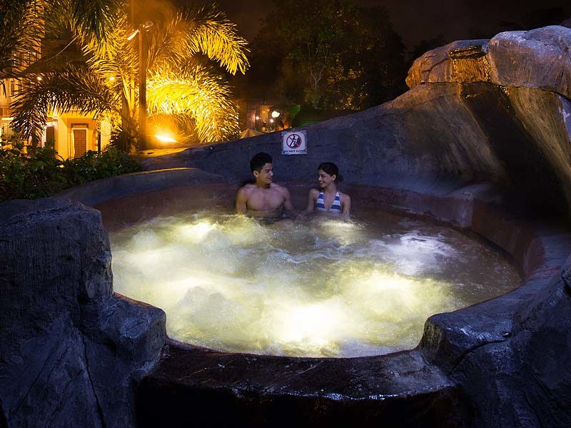Hot tub at Lost World of Tambun Sunway