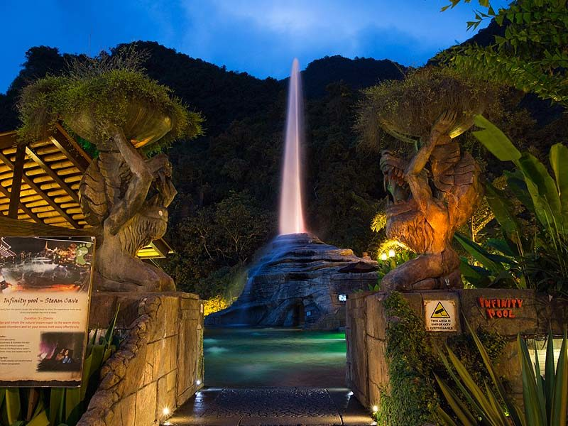 Geyser at Lost World of Tambun Sunway