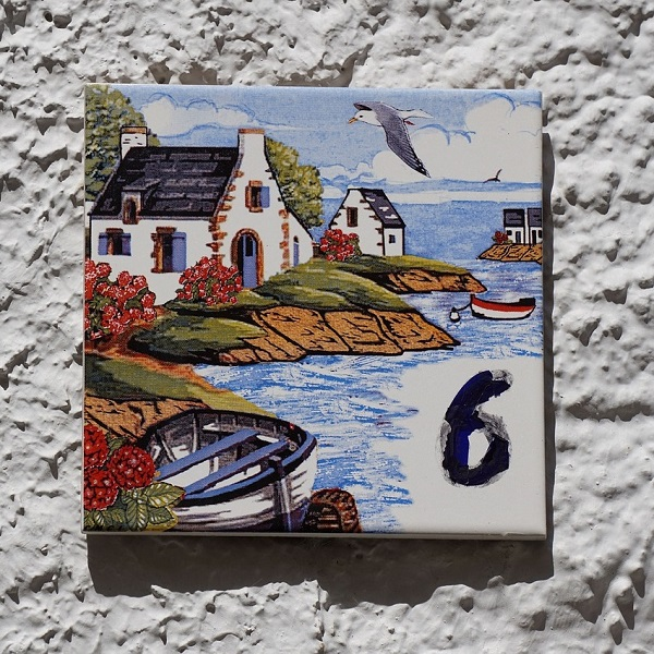 Ceramic Tile Painting Image Sea Boat