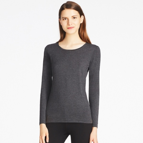 Thermals Uniqlo Inner Leggings Top Warm Snow Winter Gray
