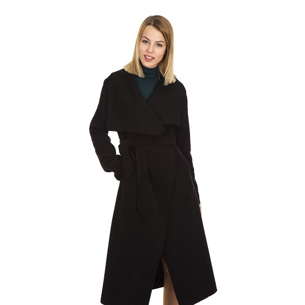 Winter Coat Woman Snow Black Warm