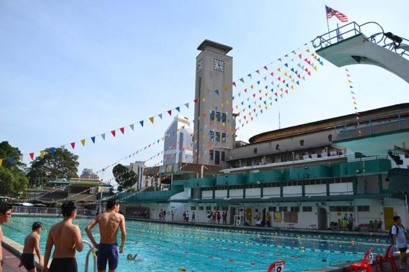 Outdoor pool at Chinwoo stadium, KL