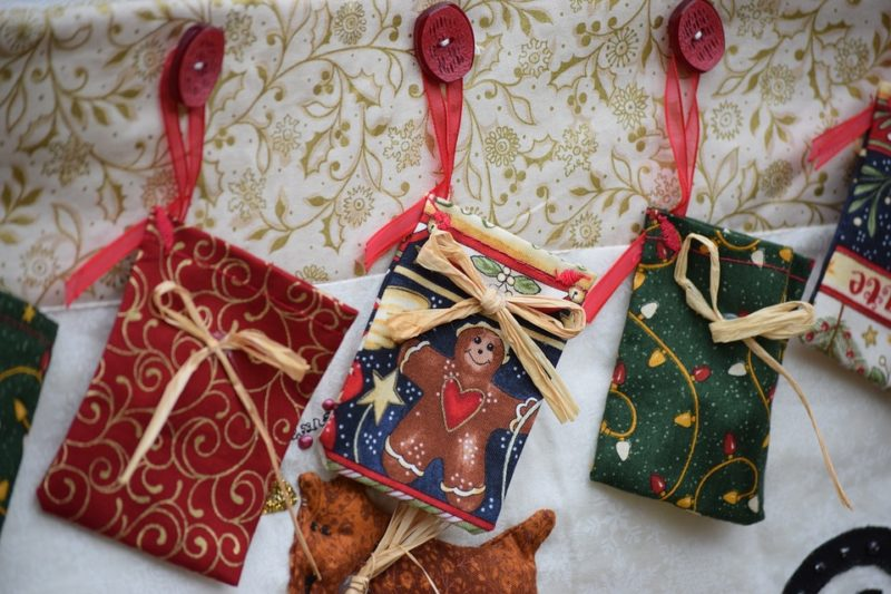 Christmas fabric cases