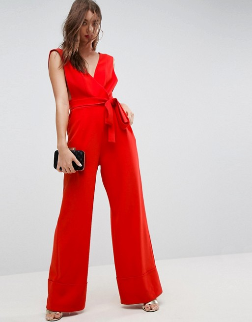 ASOS Jumpsuit with Wide Leg and Self Belt