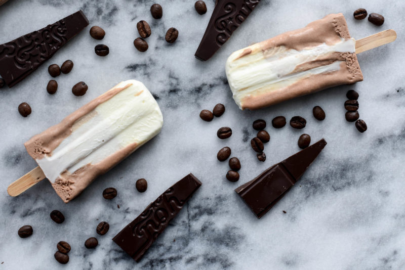Milo Mocha yogurt popsicle