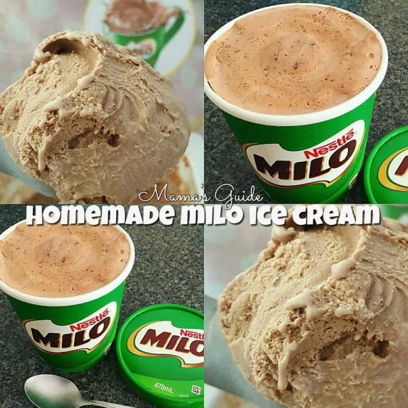 Homemade Milo Ice cream