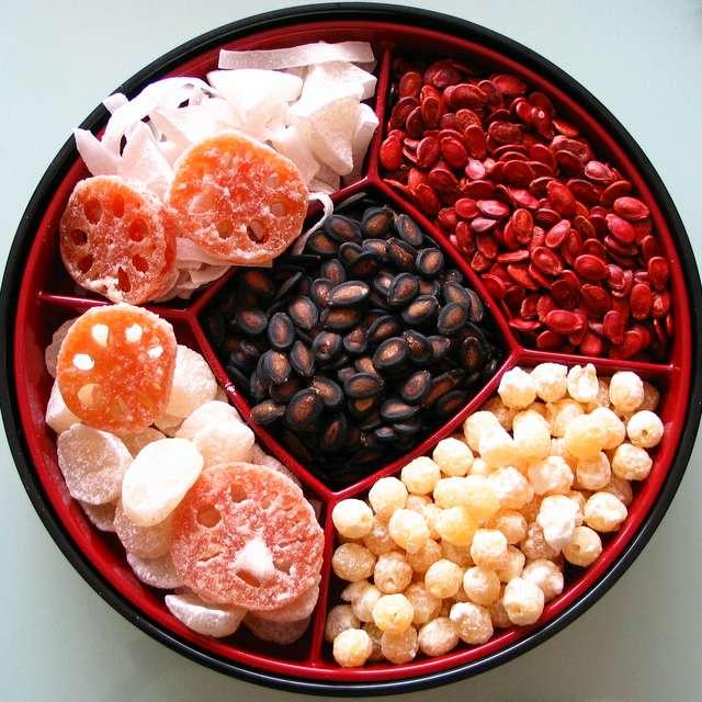 Box of Chinese snacks