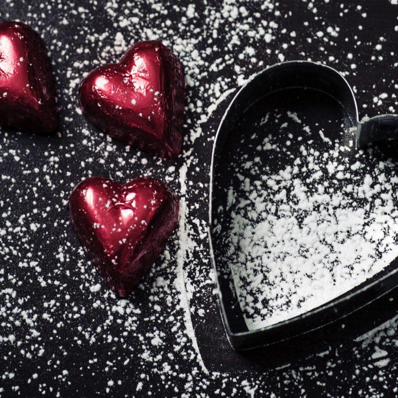 valentine chocolates heart shaped