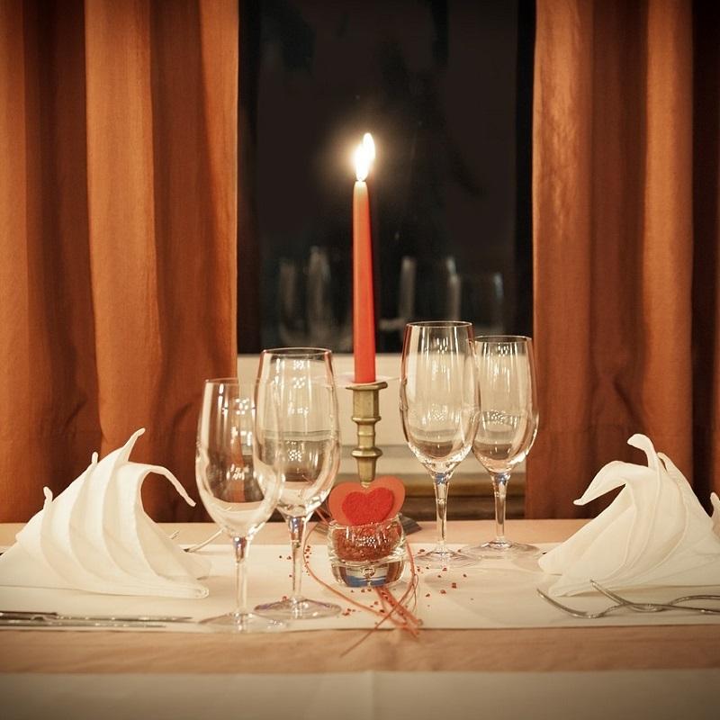 Candlelight Dinner Romantic Romance Food
