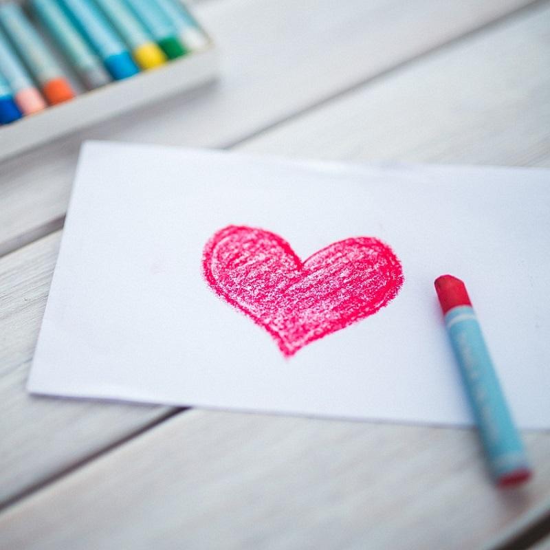 Art Handmade Crayon Love Heart