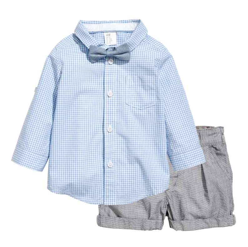 Shirt With Bow Tie & Shorts