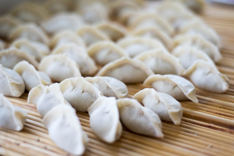 Chinese dumplings or Jiao Zi