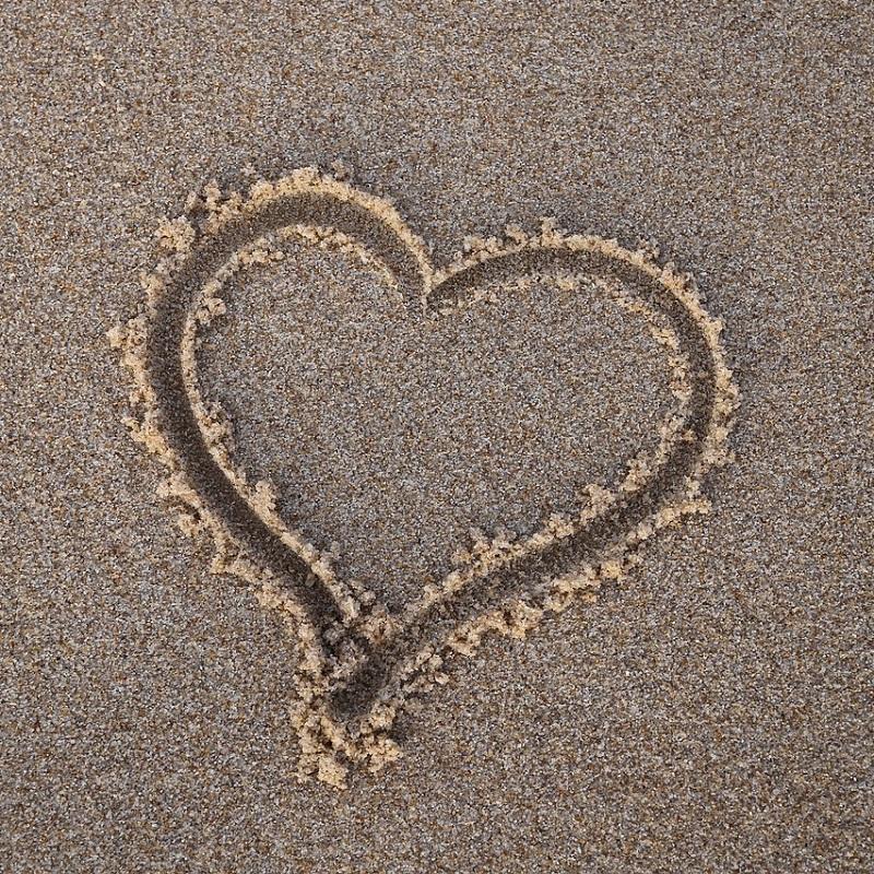 Heart Sand Confess Beach Love