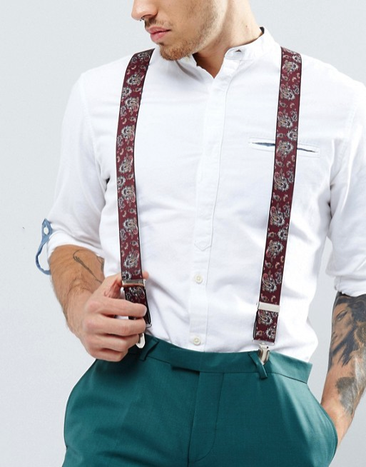 Men's Suspenders for Chinese New Year
