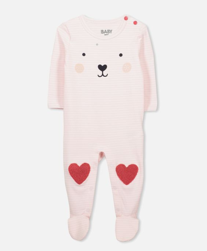 Mini Bear Footed Snap Romper