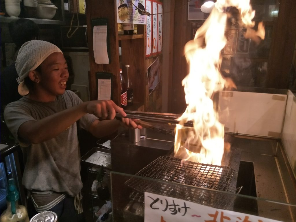 Open air cooking at Kokusai Street