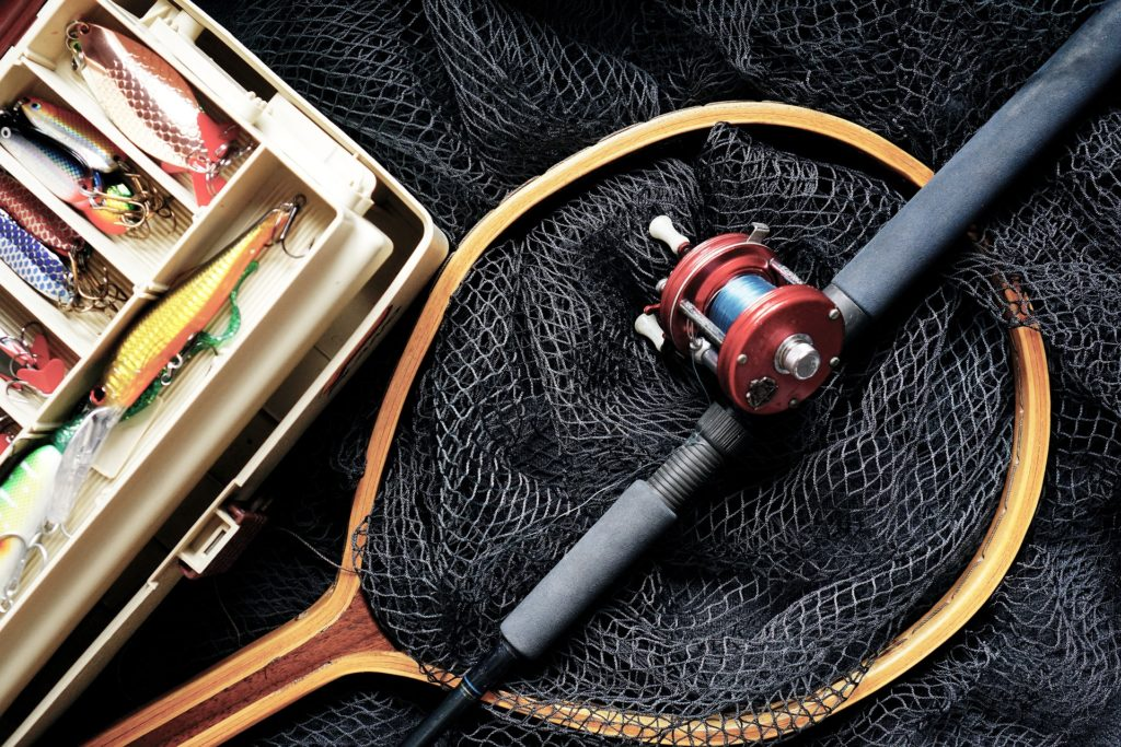Fishing gear consisting of line, net, bait and tackle