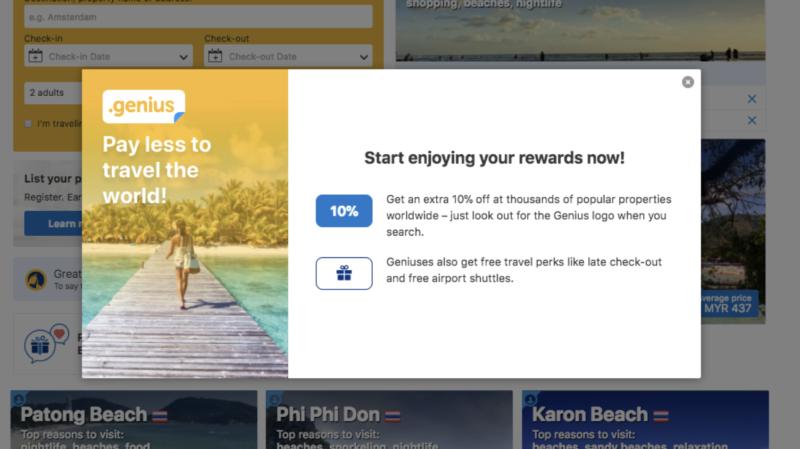 booking.com genius traveller