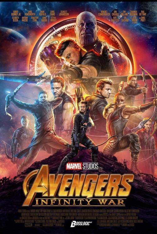 hawkeye avengers infinity war poster