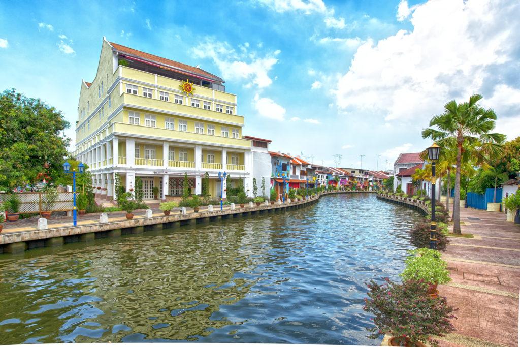 View of RC Hotel facing Melaka River