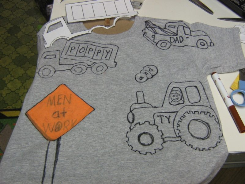 Drawings on a T-shirt