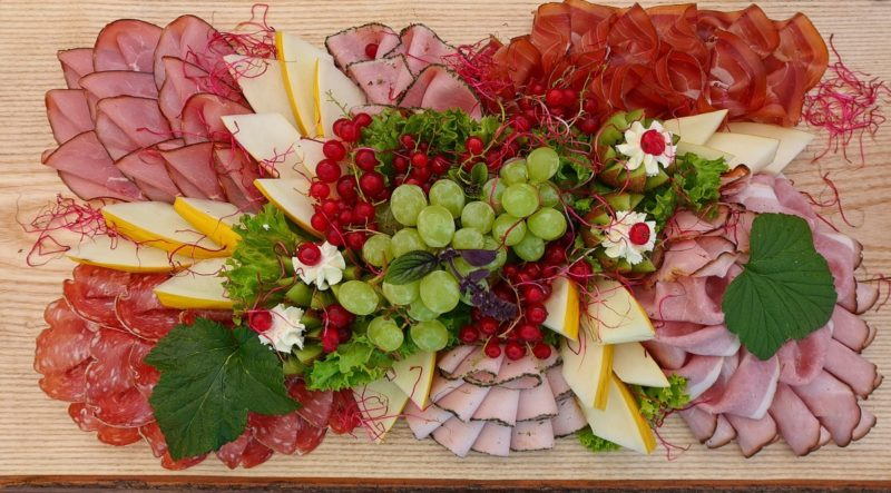 Platter of meat and cold cuts