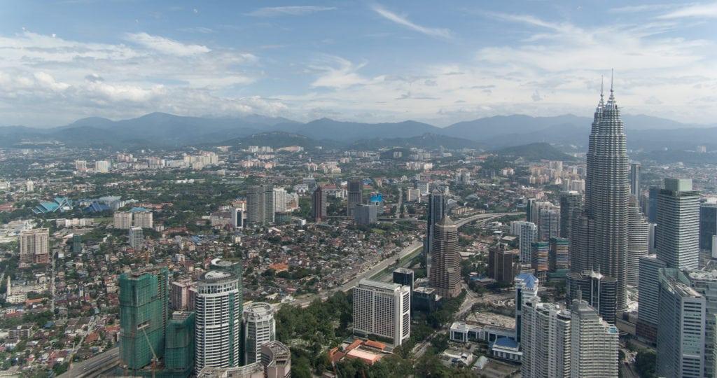 Aerial view of Kampung Baru next to PETRONAS Twin Towers