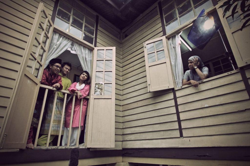 Windows at Kampung house