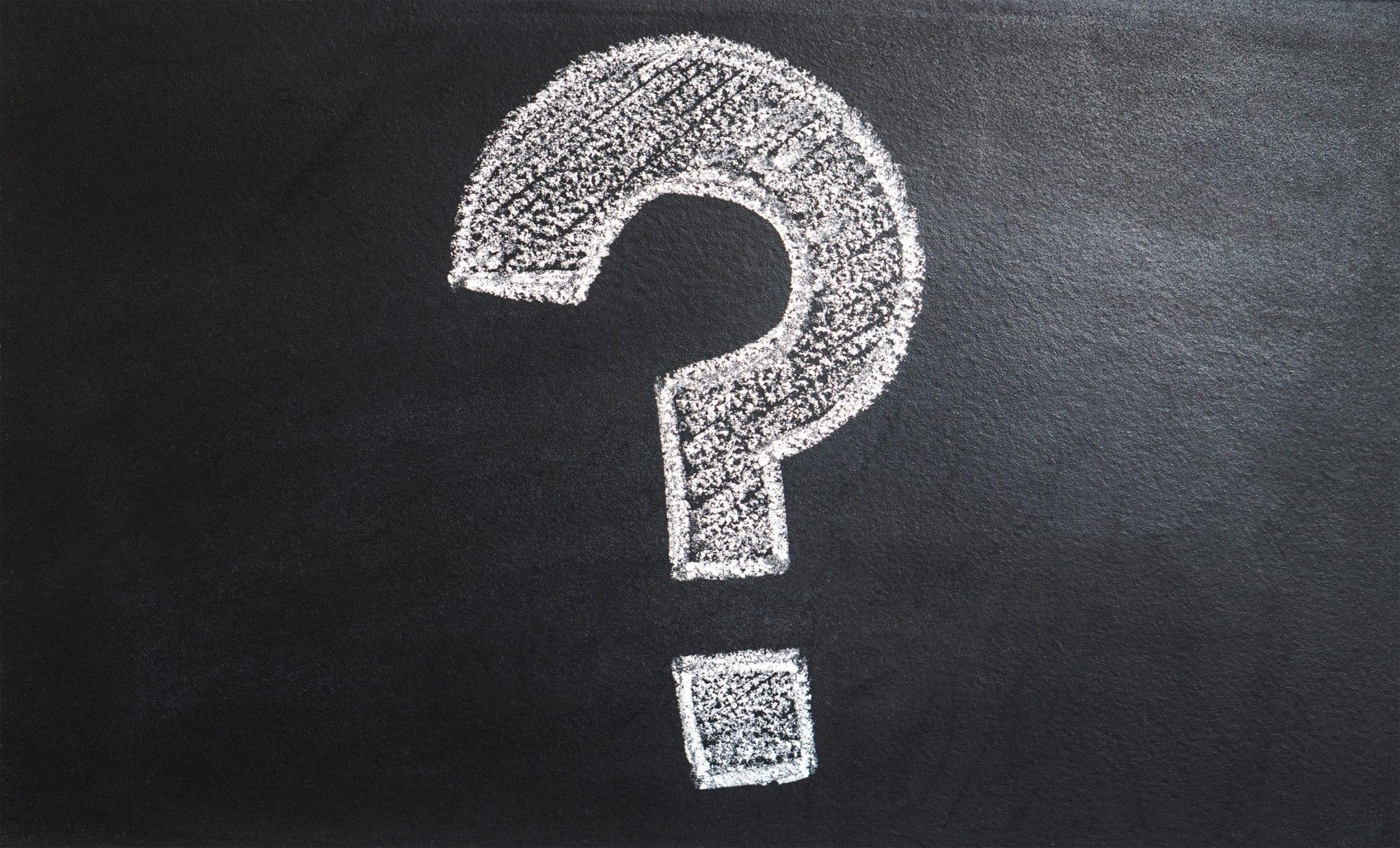 chalk question mark