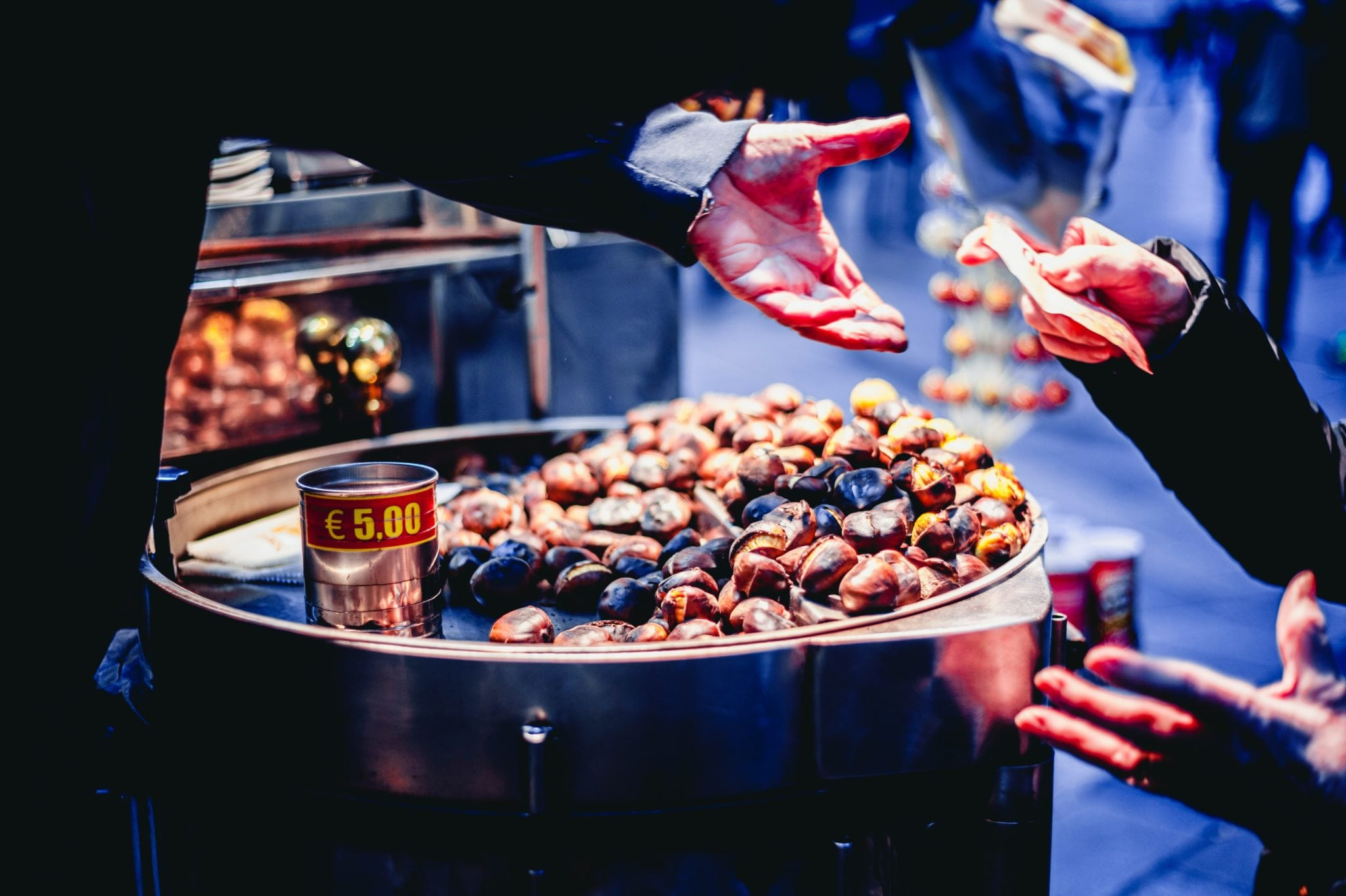paying for roasted chestnuts