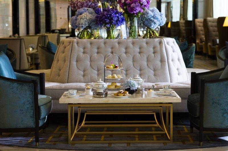 High tea at the Lobby Lounge, Ritz Carlton