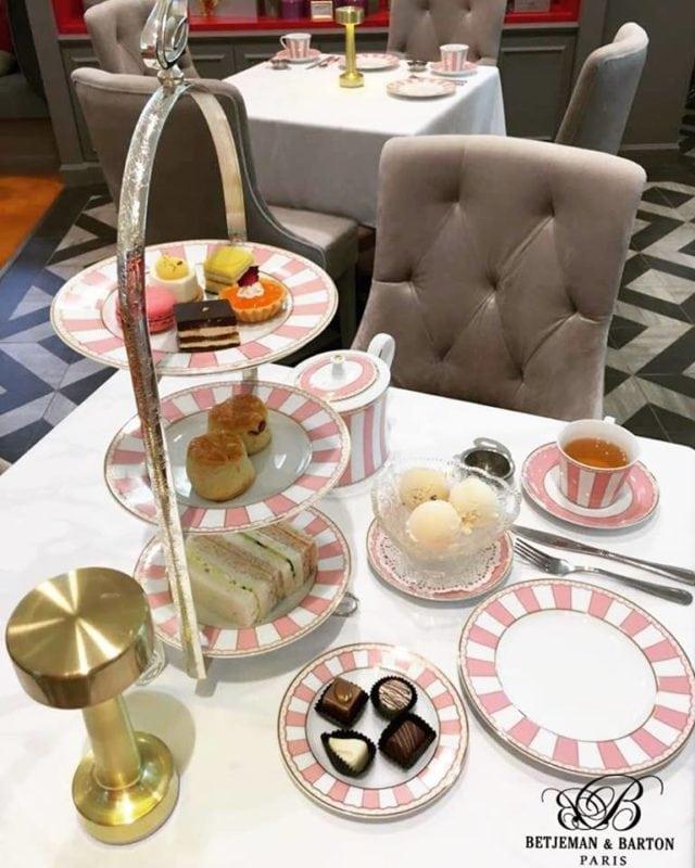 High tea set at Betjemen & Barton