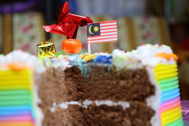 Food with Malaysian flag