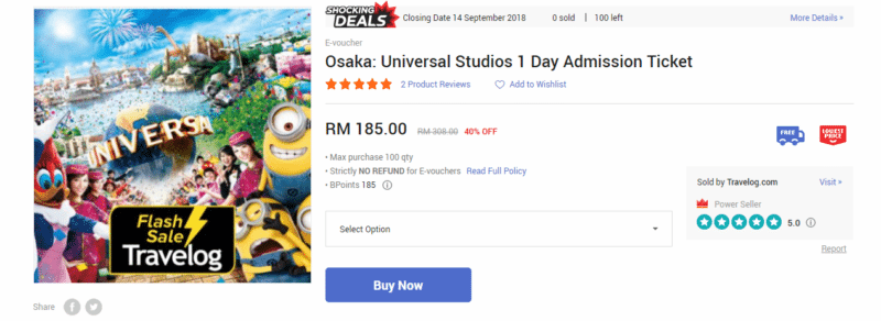 street11 osaka universal studios admission ticket