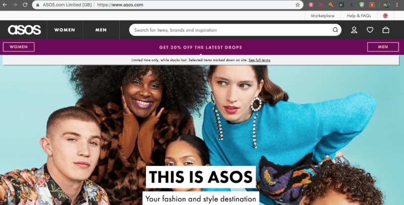 asos website shopback merchant