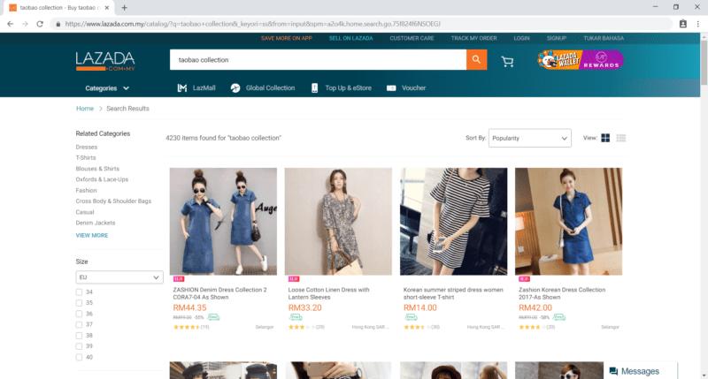 Lazada Search Bar Taobao Collection