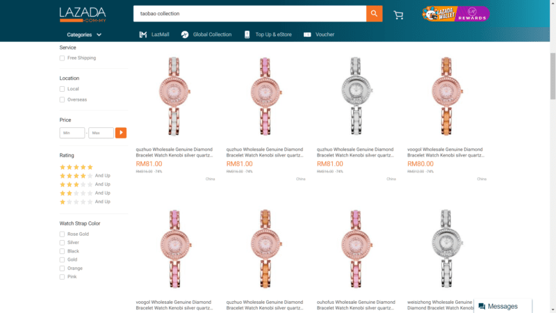 Lazada repeat watches