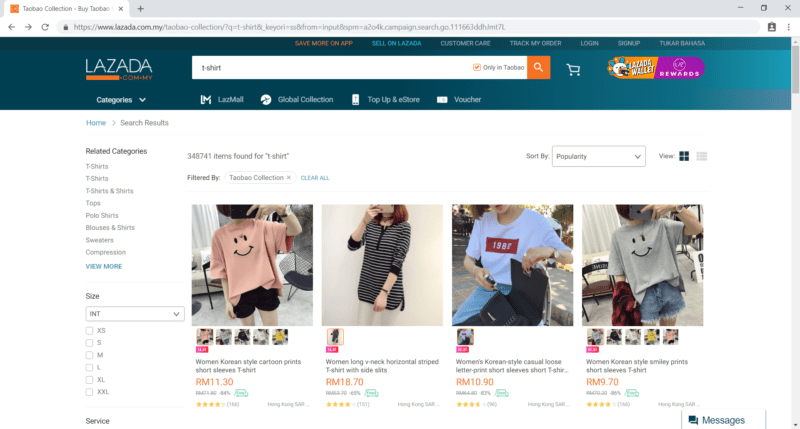 taobao collection tshirts