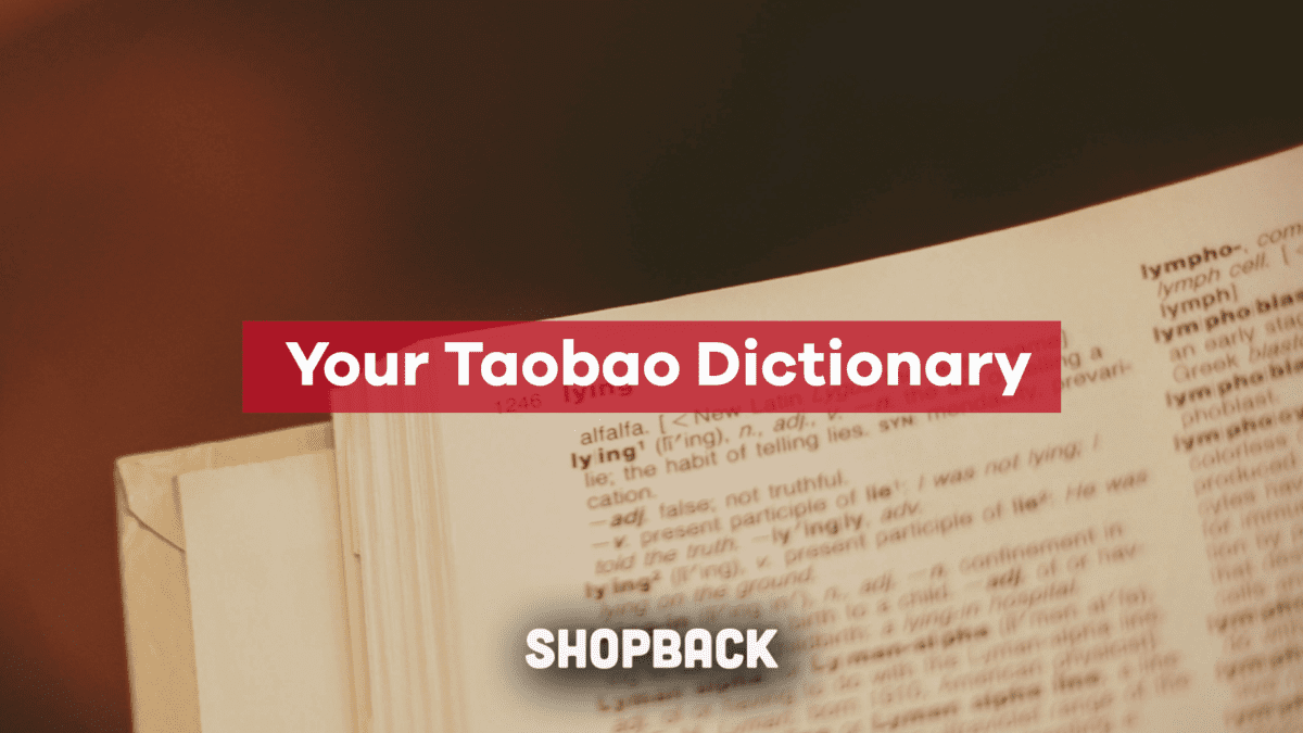 Taobao Dictionary – Help! I Don't Know Any Chinese, What Do I Do?