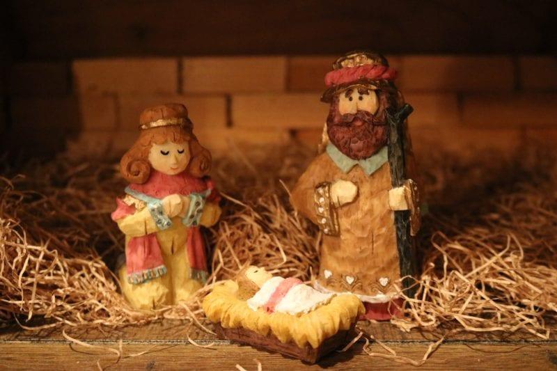 three religious figures figurines