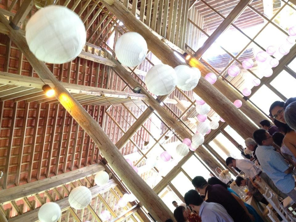 View of wedding deco at Tanarimba