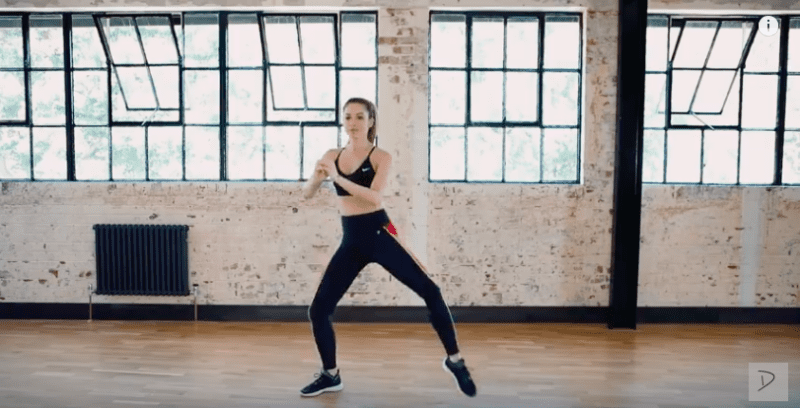 legs and bum short workout with a dance routine
