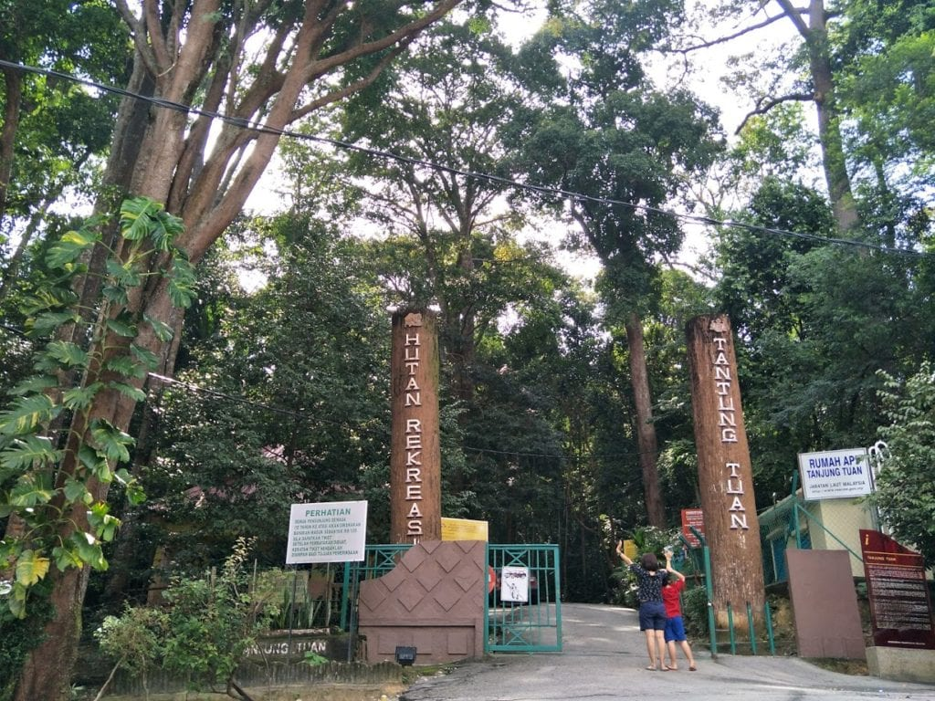 entrance to Tg. Tuan Recreational Forest